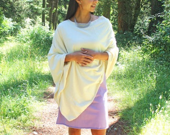 Hera Wrap, Hemp and Organic Cotton Wrap, Poncho, Hand Dyed