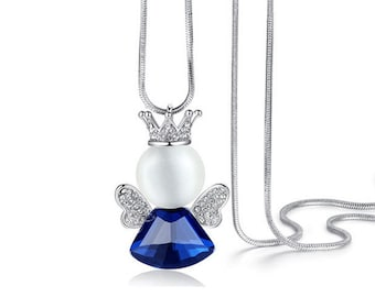 Necklace Wing Angle - Silver Plated