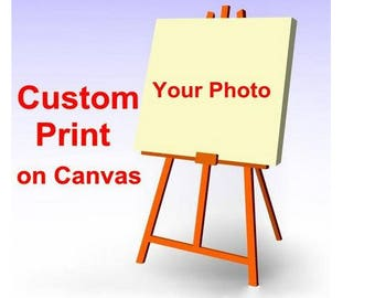 Custom Customized Canvas Print Personalized Posters Art Framed Ready To Hang Free EMS On