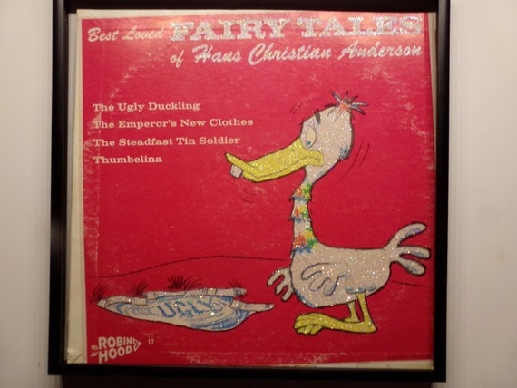 Glittered Record Album - Best Loved Fairy Tales by Hans Christian Anderson