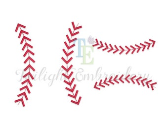 Baseball Stitches Machine Embroidery Design, Baseball Stripes Machine Embroidery Design, Baseball Laces Embroidery Design 0012
