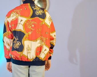 Silk Swag Jacket // Belts, Crests, Ropes Red Navy Gold