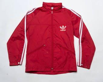 80's Adidas Wind breaker water proof jacket Vtg