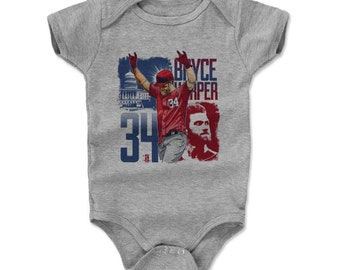 Bryce Harper Baby Clothes | Washington Baseball | Baby Romper | Bryce Harper Square R