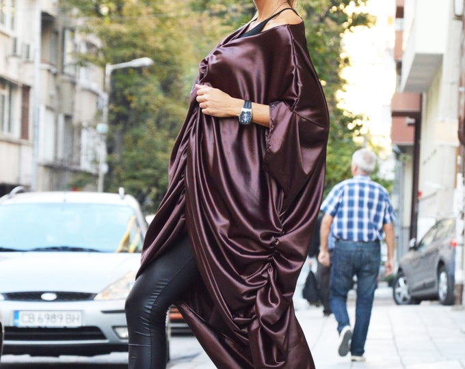 Extravagant Long Maxi Dress, Asymmetric Long Loose Dress Kaftan, Hot Women's Style Dress by SSDfashion