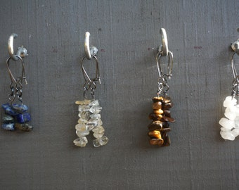 Crystal Earrings - Moonstone - Tigers Eye - Lapis Lazuli - Citrine
