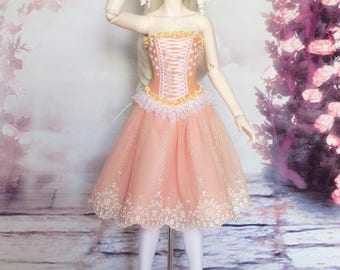 SD16 Peach Bloom sweet dress (outfit for Withdoll SWD, Volks Graffity etc.)