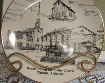 VINTAGE Assiette de collection 10 po / MID-CENTURY Plate Tarrant Alabama