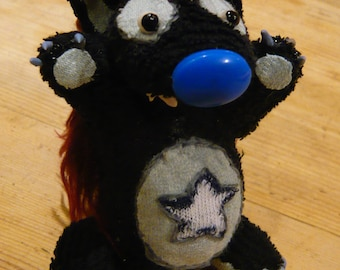 Cute Werewolf with blue nose