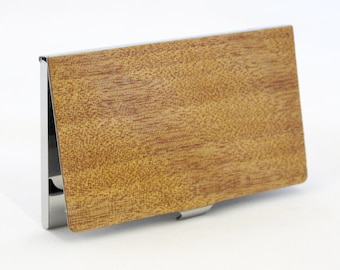 Exotic Wood Business Card Case