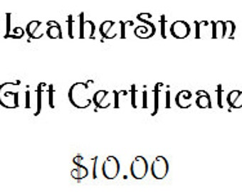 LeatherStorm Gift Certificate