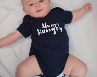 Personalised Baby Short Sleeved BodySuit - Always Hungry