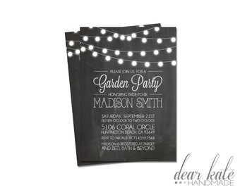 CUSTOM Bridal Shower Invitation- Garden Party/Tea Party