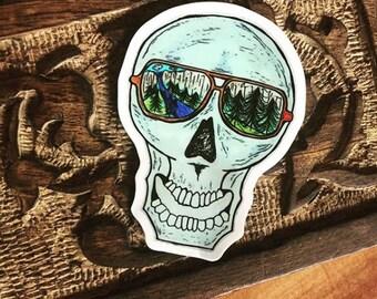 Explorer Skull Vinyl Decal
