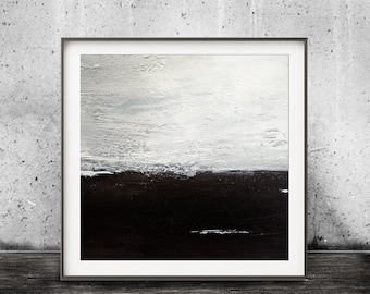 Minimalist Digital Download Abstract Art Black and White Printable Art Modern Contemporary Painting Urban Square Print Interior Design