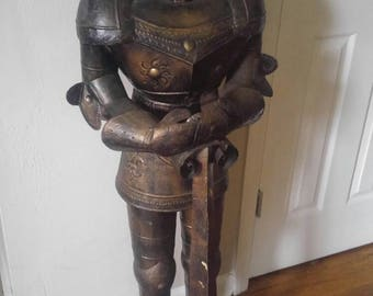 Tall Armored Medieval Knight with Sword