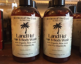 Land Ho! Hair and Body Wash Liquid Soap for Men