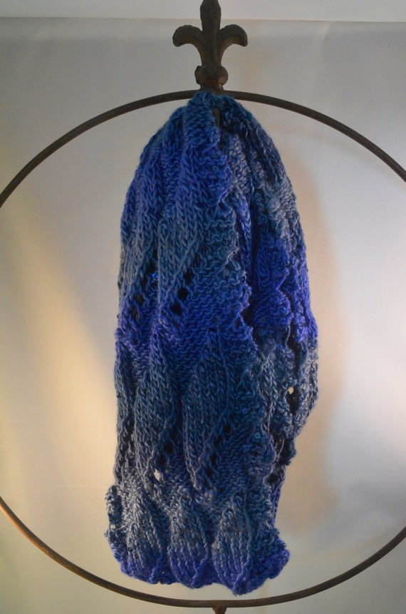 Peacock Ombre Sparkle Infinity Scarf (LSI008)