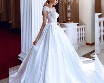 Princess Wedding Dress  • Bridal Ball Gown • Dress with train • Ball dress • Bridal dress • Wedding dress 2018 • Sweet heart neckline