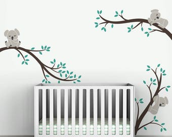 Koala Tree Branches Wall Decal by LittleLion Studio.