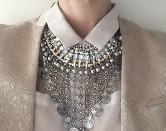 "Stacked Statement Necklace- ""Muse"" Wrecklace"