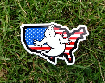 Ghostbusters Haunted Independence Day Sticker