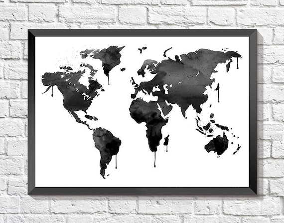 Black world map black globe travel art world map world black world map black globe travel art world map world map wall art printable map travel print world map art printable world map gumiabroncs Image collections