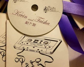 60 Custom Wedding CD Favors, Personalized CD Favors, Wedding Favors, Birthday Favors, Bridal Shower Favors, Party Favors