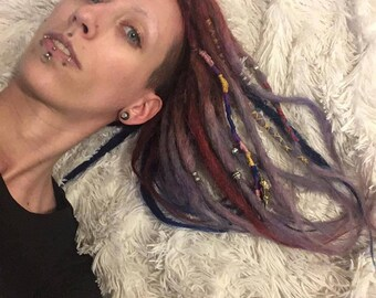100% Human Hair Custom Dread Extensions