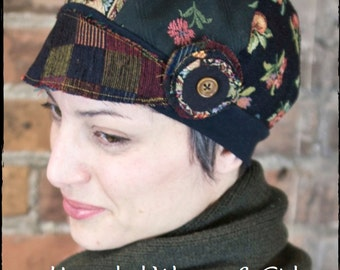 PDF Sewing Pattern & Tutorial of Upcycled Fabric Sample Hat for Women and Girls Instant Download