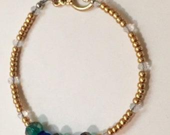 Bollywood green gold bracelet