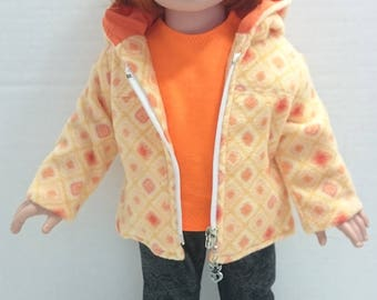 3 Piece Jacket Outfit to fit an 18 Inch Doll Such as the American Girl and Other Similar Dolls