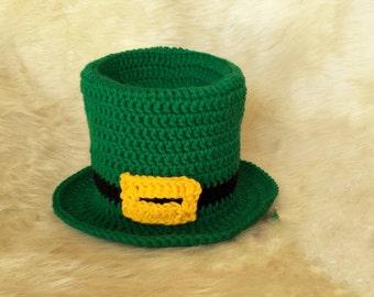 Saint Patrick's hat for babies,Saint Patrick beanie,Crochet Saint Patrick,Saint Patrick photo prop,Leprechaun hat, Saint Patrick newborn