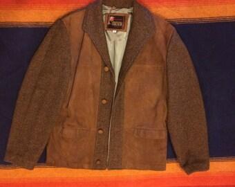Mens Suede Leather Sport Jacket