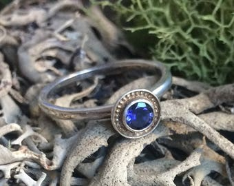 Sterling Silver Iolite Ring One of a Kind Size 7 1/2