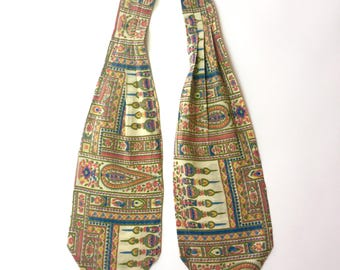 1970's Travellers Cotton Neck Tie Scarf