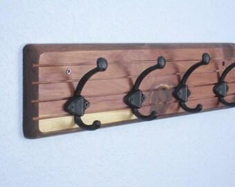 Coat Rack, READY TO SHIP #2 - Entryway Coat Rack - Wall Coat Hanger - Cedar Wood Coat Racks - Hat Rack