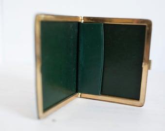 Vintage Green Leather Cigarette Case - Fantastic Condition 1950's
