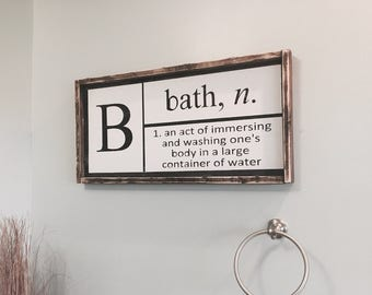 Delightful Bathroom Wall Decor | Etsy