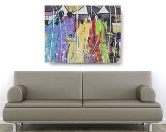 Family Unit, African American Art, Canvas Art, Canvas Wall Art,Home Decor Art, Canvas Painting,Abstract Art, Wall Art