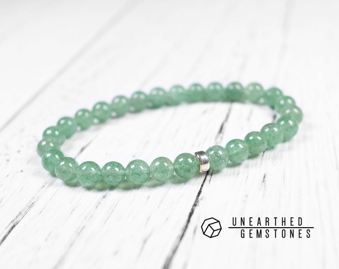 One Left - 7mm Green Aventurine Bracelet
