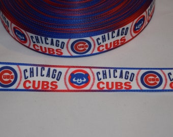 "Chicago Cubs 7/8"" Grosgrain Ribbon"