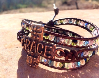 We All Can Use a Little Grace in Our Lives!! Christian Jewelry, Cross Braclelet, Grace Jewelry, Cross Jewelry by RanchLadyJewelry
