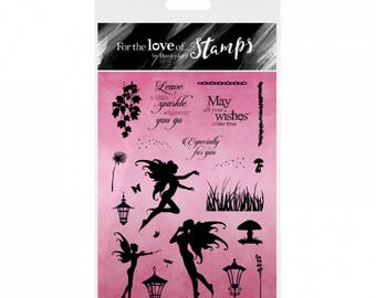 Hunkydory Clear Stamps FAIRY SPARKLES For the Love of Stamps A6 Stamp Set Card Making Scrapbooking Papercraft Gift for Her