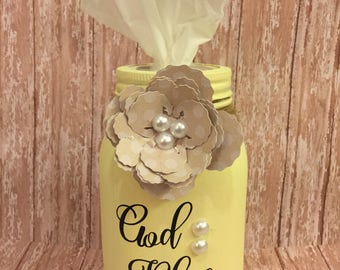 Tissue Mason Jar Holder