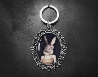 Easter gift etsy easter gift rabbit keychain bunny gift bunny girl quirky gifts animal negle Gallery