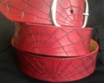 Leather Spiderweb Belt