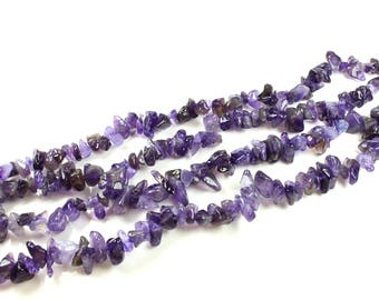 Natural Amethyst Chips beads 115 +/-5 to 8mm x 4 to 9mm LBP00089