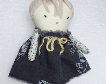 Soft Dolls - Handmade Ragdoll - Baby Shower Girls - Nursery Decor Girls - Gift for Girls - Gift for Her