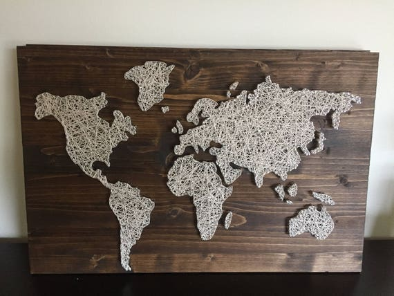Custom made to order world map string art like this item gumiabroncs Image collections